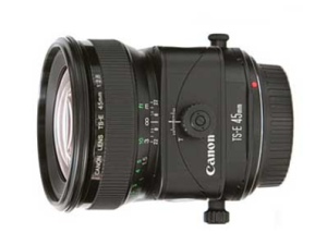 This is a Tilt-shift lens.  It is an EF lenses that can be shifted and tilted to control the plane of focus and correct perspective distortion.